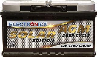 Solarbatterie 12 V 120 AH elektronisk solutgåva AGM batteri sol batteri strömförsörjning strömförsörjning förvaring fotovo...