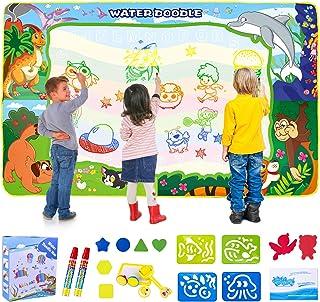 SPLAKS Water Doodle Mat, 150X100cm Water Drawing Mat Extra Large Mess Free Water Magic Mat Educational Colouring Painting ...