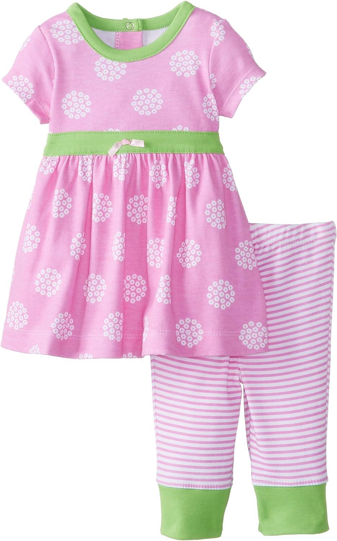 Offspring - Baby Apparel Girls Newborn Daisy Dot Dress and Legging Set, 9 Months