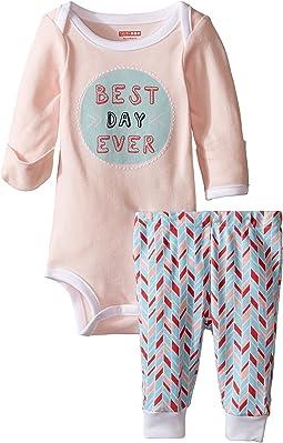 Skip Hop - Baby Says Long Sleeve Bodysuit & Pants (Infant)