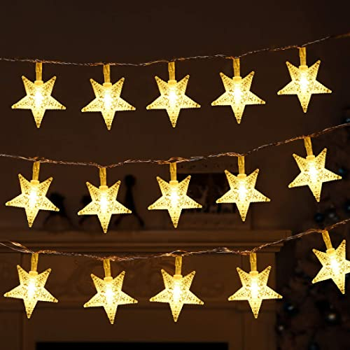 lowest Twinkle Star 40 LED 14 popular FT Star String Lights Battery Operated, Fairy String Light for Home Ramadan Party, Christmas, discount Wedding, New Year, Garden Decoration (2 Pack, Warm White) sale