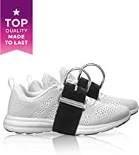 The x Bands Glute Kickbacks Straps (Pair) - Foot Harness Attachments for Weight & Cable Machine - Best for Hip Abduction, AB Exercises, Leg & Butt Quads Workout - Adjustable Fitness Cuffs for Women