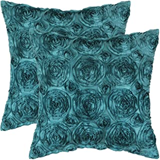 CaliTime Pack of 2 Cushion Covers Throw Pillow Cases Shells for Couch Sofa Home Solid..