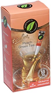 Serengeti Tea Peach Green Tea Box with 18 Tea Sticks