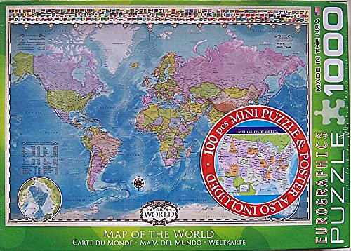 EuroGraphics Map of the World 1000 Piece Jigsaw Puzzle