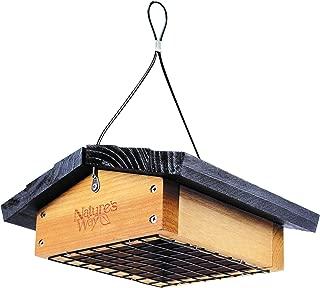 Nature's Way Bird Products CWF2 Cedar Suet Upside-Down Bird Feeder, Black
