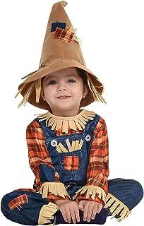 زي تنكري للأطفال بشخصية فزاعة صغيرة من بارتي سيتي، يتضمن بذلة وقبعة.