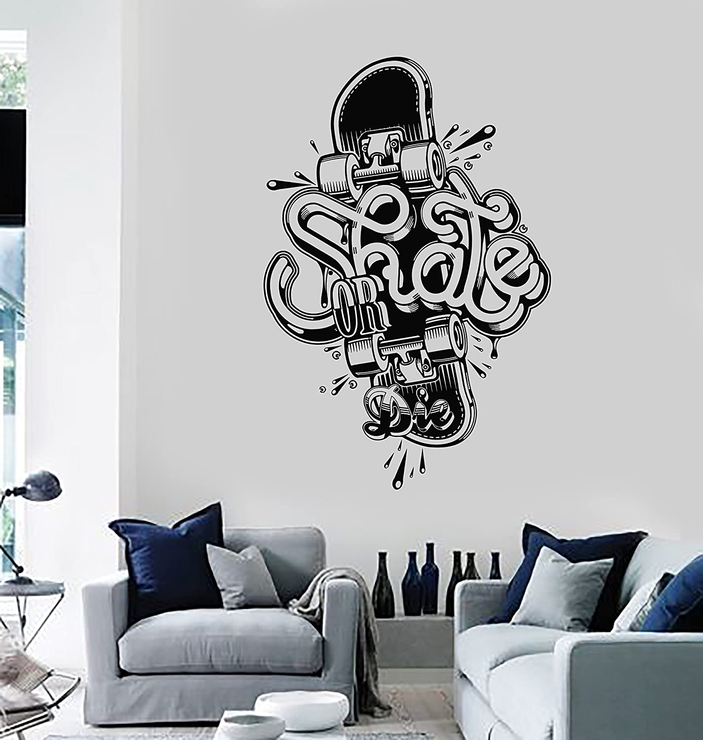 Wall Sticker Vinyl Decal Skateboard Skate Die Sport or f Genuine Free Some reservation Shipping Extreme