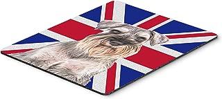 Caroline's Treasures Schnauzer with English Union Jack British Flag Mouse Pad/Hot Pad/Trivet (KJ1165MP)