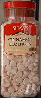 WJ Shaws Cinnamon Sweets Lozenges 2.25Kg Jar Old Sweet Shop Style