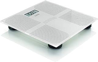 Báscula de baño digital Laica PS1066W pesa hasta 200 kg, color blanco, en vidrio templado de 8 mm. con baterías incluidas.