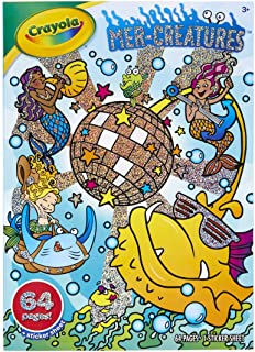 Crayola 64-Page Coloring Book W/Stickers, Mer-Creatures, 1 of Piece