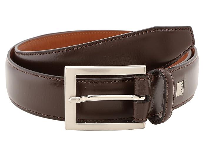 Johnston & Murphy Johnston Murphy Dress Belt (Dark Brown) Men