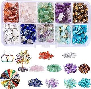 Perline di Pietre Preziose,150g Pietre Miste Irregolare,pietre per bigiotteria fai da te,Perline Pietra Naturale,Perline s...