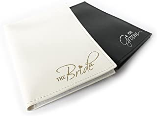 The Bride & The Groom Just Married Wedding Honeymoon Passport Holders Set of 2