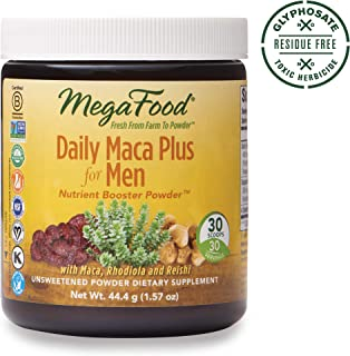 MegaFood, Daily Maca Plus for Men Powder, Supports Overall Health and Vitality, Drink Mix Supplement, Gluten Free, Vegan, 1.57 oz (30 Servings) (FFP)