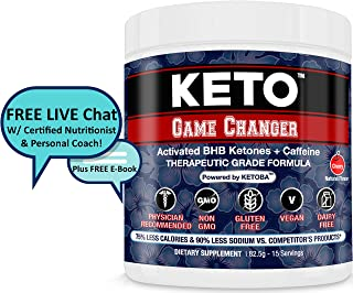 Fast BHB Keto Diet & Pre-Workout Exogenous Ketones Powder All Natural: Drink/Shakes/Snack   Weight Loss/Energy/Low Carb/NO Keto Flu   Paleo,Atkins,Diabetes-Ketogenic Drive,Ketosis Booster,Supplement