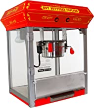 Funtime FT421CR Antique Carnival-Style 4-Ounce Tabletop Hot-Oil Popcorn Popper, Red