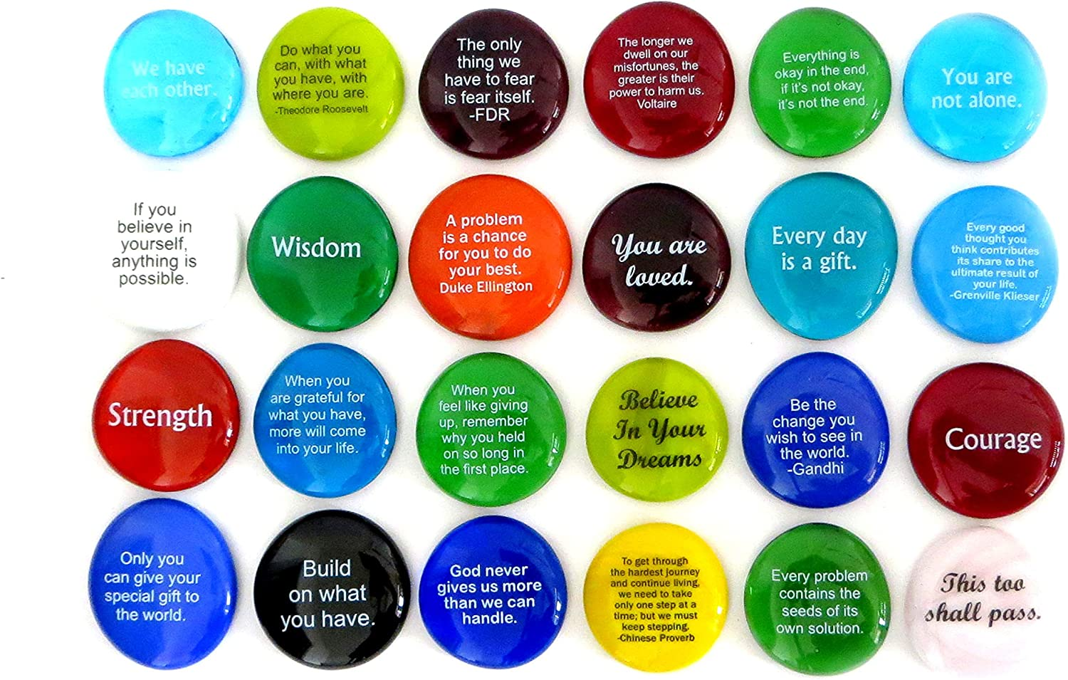 Encouragement Stones Set of 24 Q and Motivational NEW Max 89% OFF before selling Inspirational