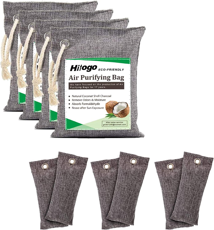 Hitogo Activated Max 68% OFF Bamboo Charoal Nashville-Davidson Mall Air Purifying Bags 10piece kit