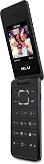 BLU Diva Flip T390 Mobile Phone, Less than 512 MB Dual SIM Black