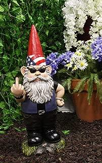 Ebros Rude Garden Greeter Go Away! Gnome Dwarf Flip The Bird Statue Patio Outdoor Poolside Garden Figurine As Whimsical Decor Magical Fantasy Gnomes (17.25