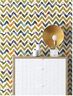 HaokHome 96001 Thick Peel and Stick Stripe Wallpaper 17.7