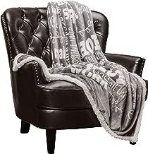 Chanasya Hope and Faith Prayer Inspirational Message Gift Throw Blanket - Posivite Energy Love Comfort Caring Soft Cozy Thoughtful Uplifting Healing Gift for Best Friend Women Men - Gray Throw Blanket