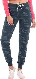 ZEYO Women's Cotton Printed Black Track Pant