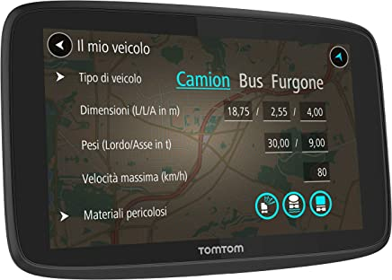 TomTom Truck Go Professional 620 Navigatore per Autobus e Furgoni da 6 Pollici con Limitazioni di Altezza e Peso, Informazioni in Tempo Reale, Aggiornamenti tramite WiFi, Smartphone Connesso