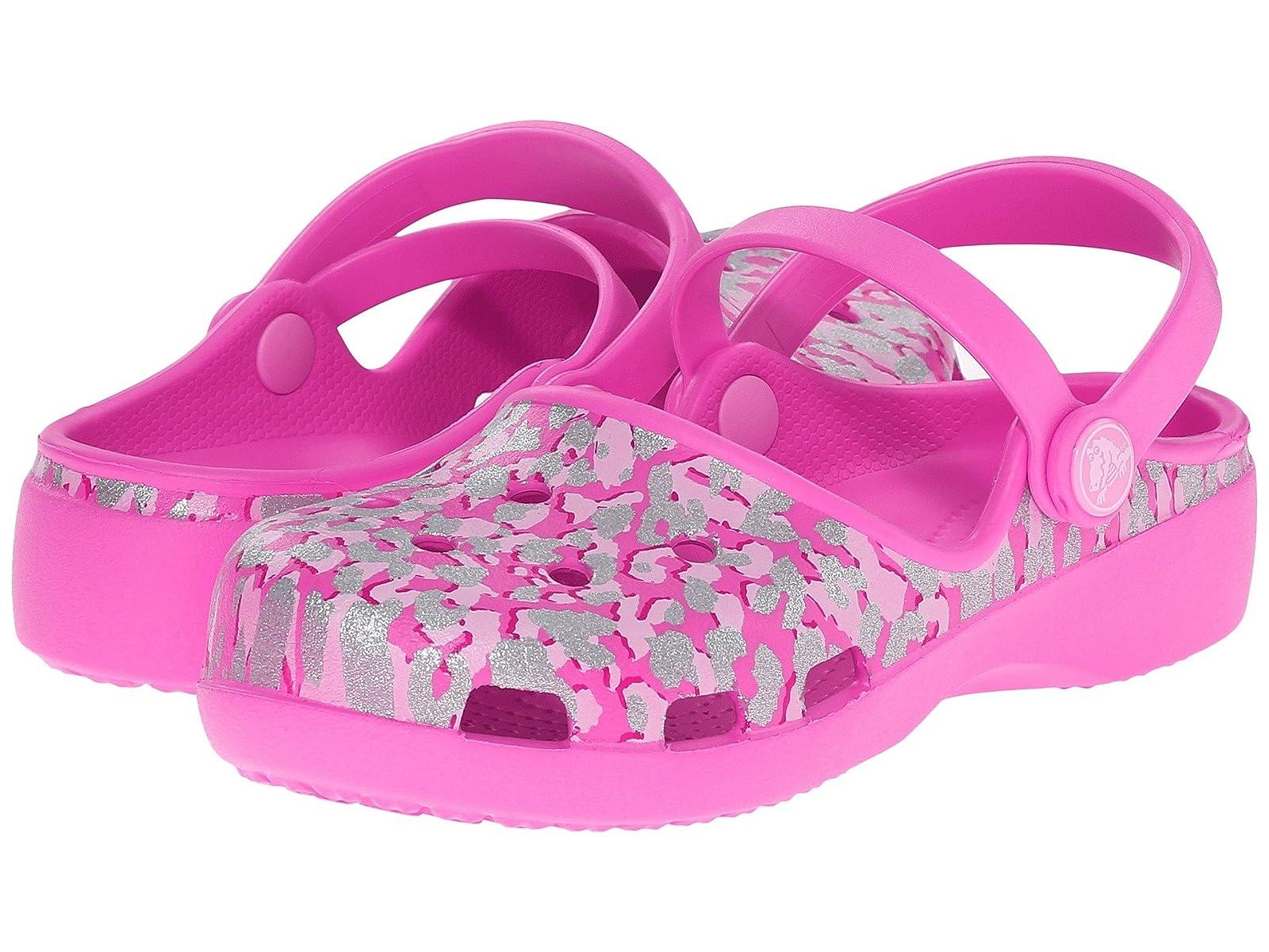 Crocs Kids Karin (Toddler/ Sparkle Leopard Clog (Toddler/ Karin Little Kid) c70932