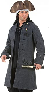 ThePirateDressing Jack Sparrow Pirate Renaissance Medieval Mens Costume Coat