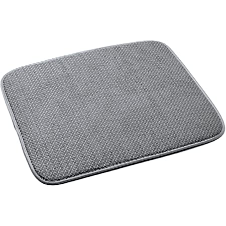 Norpro 18 by 16-Inch Microfiber Dish Drying Mat, Grey (359G), Pack of 1