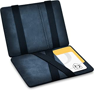 GenTo® Vegas Magic Wallet - Certificado RFID, protección NFC - Billetera mágica y Fina con Compartimento para Monedas - Re...