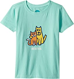 Life is Good Kids Besties Rocket and Cat Crusher Tee (Toddler)