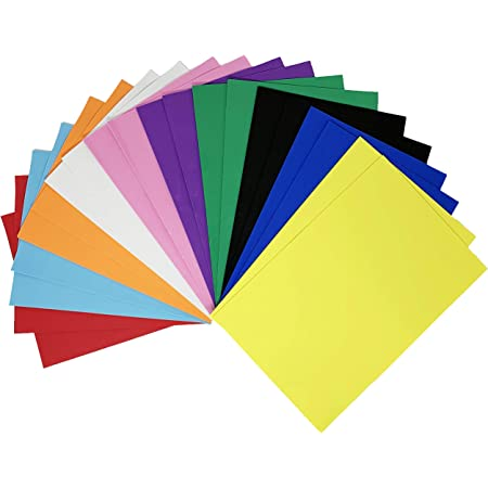 Allgala 12 Pack Self-Adhesive Glitter EVA Foam Paper 8 x 12 Sheets Assorted Colors Perfect for Kids Art Projects and Classrooms or Cosplay