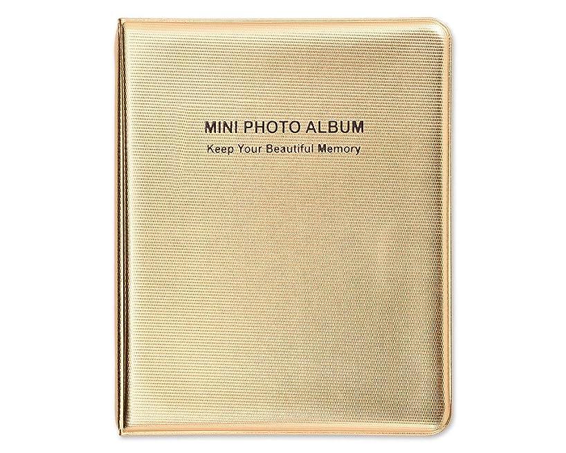 Ace Select Luxury 64 Pockets Photo Album for Fujifilm Instax Mini 9/8/70/25/90/7S/50S Instant Camera Films - Gold Photo Book Picture Album