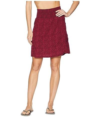 Prana Sugar Pine Skirt (Black Cherry Bodhi) Women