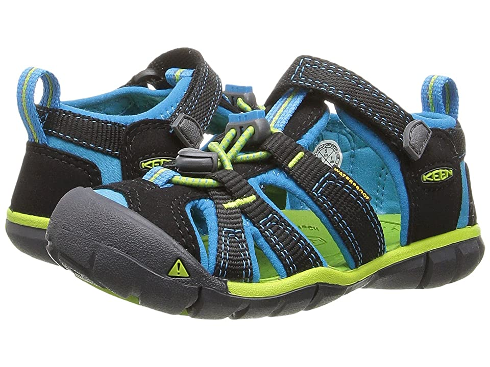 Keen Kids Seacamp II CNX (Toddler/Little Kid) (Black/Blue Danube) Girls Shoes