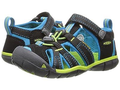 Keen Kids Seacamp II CNX (Toddler/Little Kid) (Black/Blue Danube) Girls Shoes