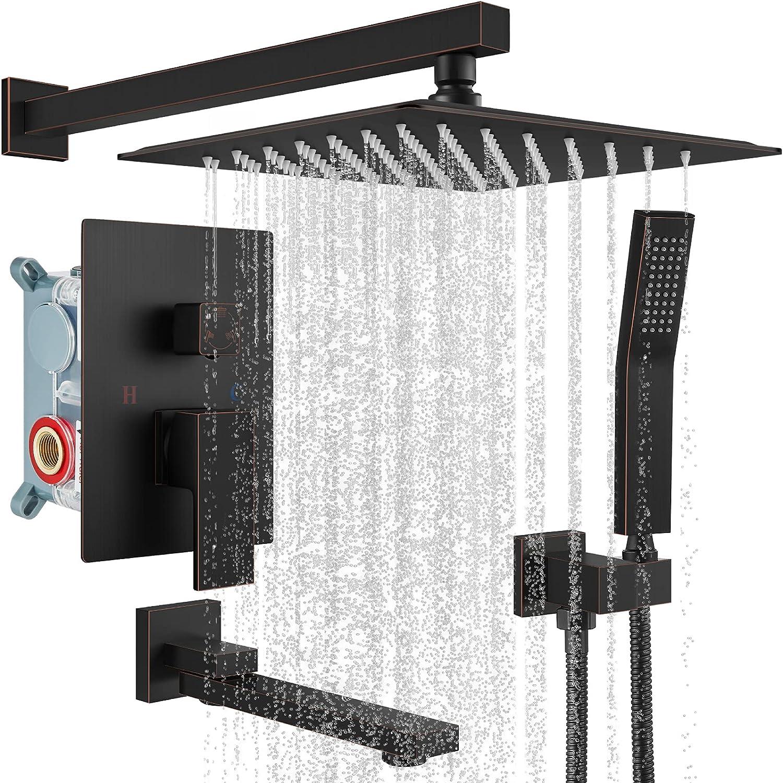 gotonovo Oil Rubbed Bronze Shower Faucet 40% unisex OFF Cheap Sale Mount Wall F Set Triple