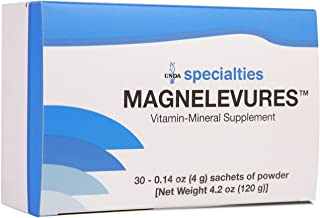 UNDA - Magnelevures - Vitamin Mineral Supplement to Support Musculoskeletal System - 30 Sachets
