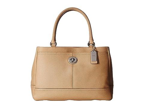 6PM:COACH 蔻驰 女士Park真皮手提包,原价$398.00,现仅售$159.99,。两色同价!