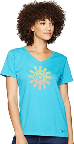 Here Comes The Sun Crusher Vee T-Shirt