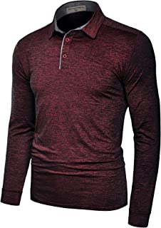 Derminpro Men's Polo Shirts Short/Long Sleeve Quick Dry Athletic Golf T-Shirts