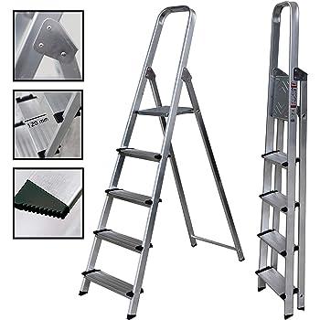 Escalera de Tijera de Aluminio Peldaño Ancho 12 cm (6 Peldaños con Ancho 12 cm). BTF-TJB306: Amazon.es: Bricolaje y herramientas