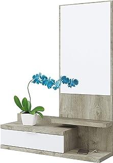 Habitdesign Recibidor Dahlia 1 cajón 1 Espejo Color Roble y