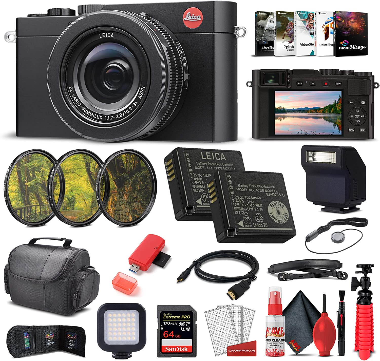 Leica D - Lux 7 Fees free Digital Camera Black Pr Extreme 19141 64GB + Max 70% OFF