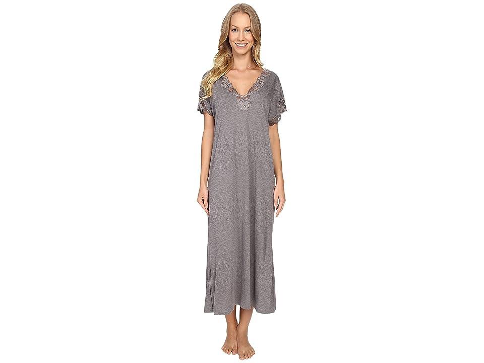 Natori Zen Floral Nightgown (Heather Grey) Women
