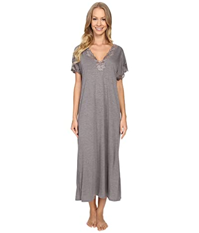 Natori Zen Floral Nightgown (Heather Grey) Women